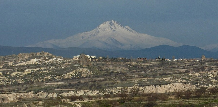 large mountain in the distant on our trip to Cappadocia Turkey