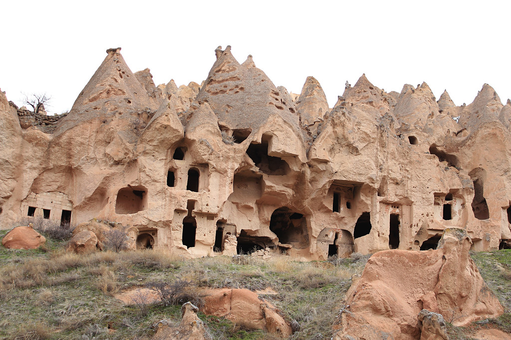 Cave houses and dwelling visited at Zelve on a 2-day trip to Cappadocia