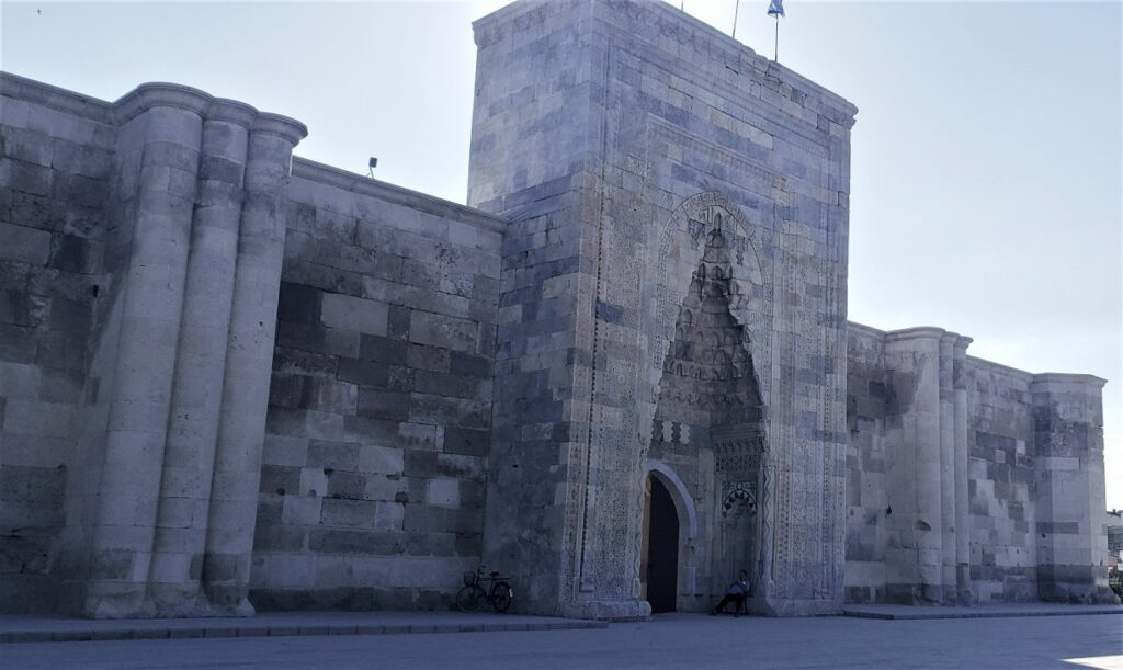 large building touring caravanserai on one of the best small group tours in Turkey