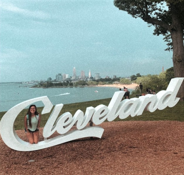 Cleveland Sign near the beach in Cleveland Ohio