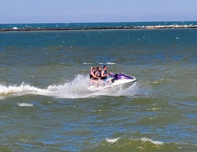 Jetski out in the water at the beaches Lake Erie Ohio