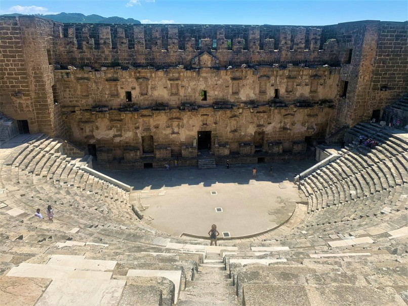 Visiting Aspendos Theater on one of the best small group tours in Turkey