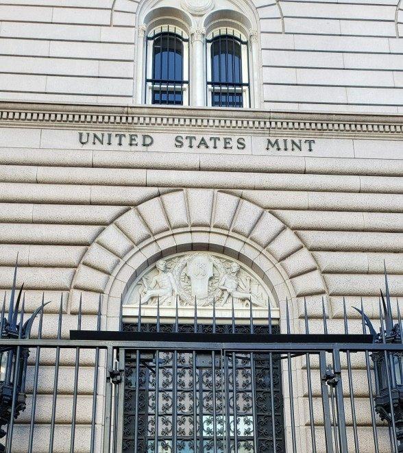 US Mint in Denver on a tour in winter
